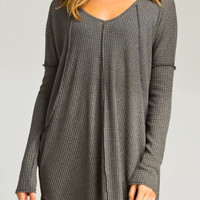 Seamed Cozy Thermal Tunic in Olive