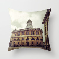 Oxford: Sheldonian Theater Throw Pillow by Architect´s Eye | Society6