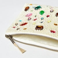 Bejeweled Pearls Pouch