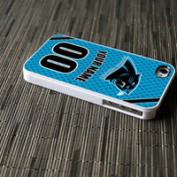 carolina panthers nfl case personalized NAME and NUMBER for iphone 4/4s,iphone 5,samsung s3,samsung s4 cover SPORTCASESTYLE