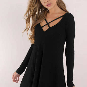 Cross My Heart Swing Dress