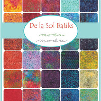 De la Sol Batiks Jelly Roll by Moda Fabrics