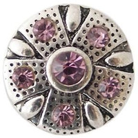 Pink Crystal Center and Border 12mm Mini