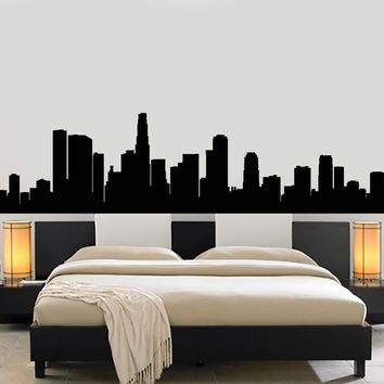Vinyl Wall Decal Skyscraper Beautiful City Silhouette Room Decoration Stickers Mural (g197)