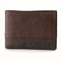 Dickies Slim Bifold Leather Wallet - Men (Brown)