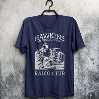Hawkins Middle School Radio AV Club Stranger Things Inspired TV Show 11 Eleven Adults Mens & Women's T-shirt Top Tee Shirt All Sizes Cols