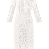 Macramé lace dress | Dolce & Gabbana | MATCHESFASHION.COM