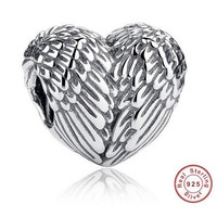 ANGELIC FEATHERS WINGS Bead / Charm 925 Sterling Silver Authentic fit Pandora Bracelet