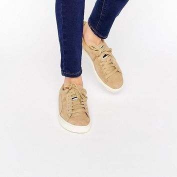 Puma Exclusive To ASOS Suede Basket Trainers In Sand at asos.com