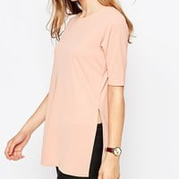 ASOS Tunic Top In Crepe With Splits