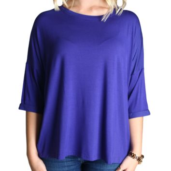 Indigo Piko Loose Sleeve Top