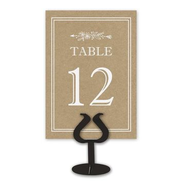 Brand New Kraft Table Card Numbers for Wedding Reception - Double Sided - 1-25