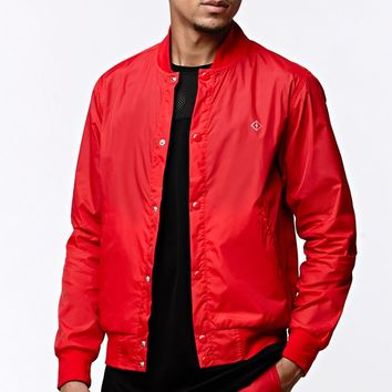 Fairplay Brand Maverick Nylon Bomber Jacket - Mens Jacket - Red - Large