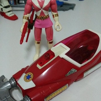 Bandai Power Rangers Gogo Five V Lightspeed Rescue Pink Fighter & Car Action Figure