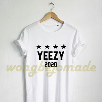 Yeezus Yeezy Shirt, West for President 2020 Tee Shirt Black Grey Navy and White Color Unisex Tshirt
