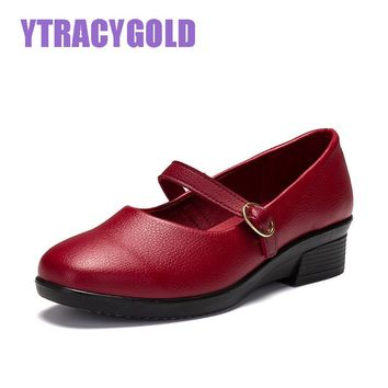 YTracyGold  Classic Women Casual Leather Sapato Feminino Women Flats Shoes Buckle Strap Moccasins Women Loafers Shoes Female
