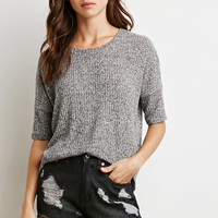 Dropped Shoulder Marled Top