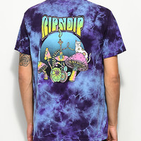 RIPNDIP Psychedelic Purple Acid Wash Pocket T-Shirt | Zumiez