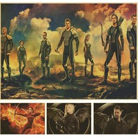 The Hunger Games 3 Classic Movie Kraft Paper Poster Bar Cafe Living Room Dining room Wall Decorative Paintings