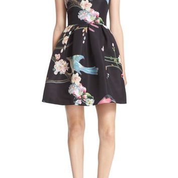 Ted Baker London Zaldana Print Fit & Flare Dress | Nordstrom