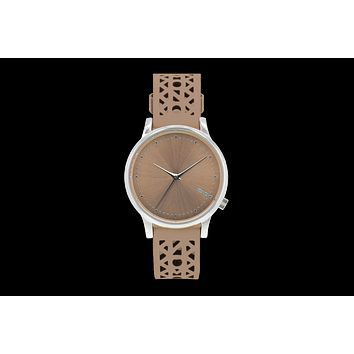 Komono - Estelle Cutout Seashell Silver Watch