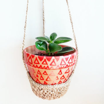 Pots and Planters- Boho Plant Hanger- Bohemian Hanging Planter- Basket Planter- Boho Wall Planter- Art and Wall Decor- Mod Retro Decor