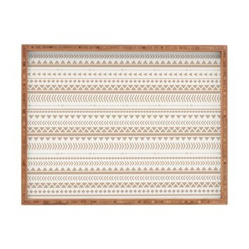 Allyson Johnson Tan Aztec Rectangular Tray