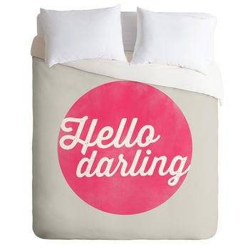 Allyson Johnson Hello Darling Duvet Cover