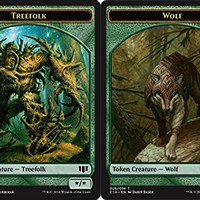 Magic: the Gathering - Treefolk Token // Wolf Token - Commander 2014
