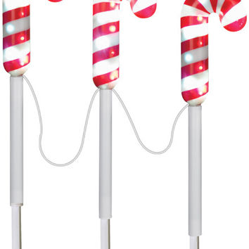 Christmas Decoration: Pathway Stakes-Candy Canes