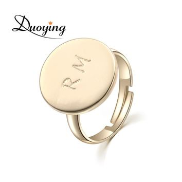 DUOYING Gold Custom Ring Engraving Name Personalized Ring Handma a1c97cebd