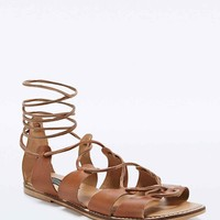 Deena & Ozzy Capri Lace Up Sandals in Tan - Urban Outfitters