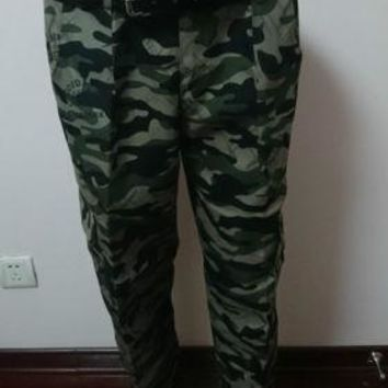 Casual Mens Military Army Camo Camouflage Combat Work Trousers Pants COS