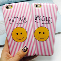 Stripe Smiling Face iPhone 5se 5s 6 6s Plus Case Cover + Nice Gift Box 358