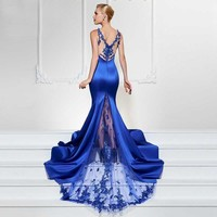 The Exquisite Beauty, a Lace and Satin Evening Gown