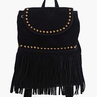Desert Fringe Backpack - Black