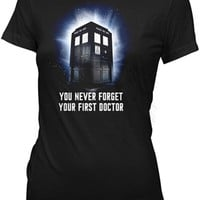 Doctor Who First Doctor Juniors T-Shirt | Vintage TV Show T-Shirt