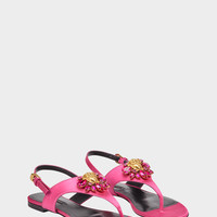 Versace Medusa Crystal Satin Sandals for Women | US Online Store