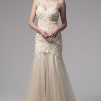 KCW1525 Cream Mermaid Wedding Gown by Kari Chang Eternal
