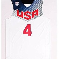 Stephen Curry #4 2014 Basketball World Cup USA Dream Team American White Jerseys S/44
