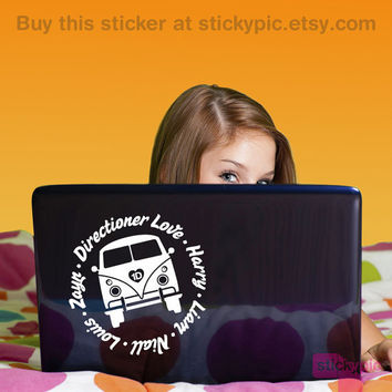 Directioner VW Love One Direction Laptop Decal by stickypic