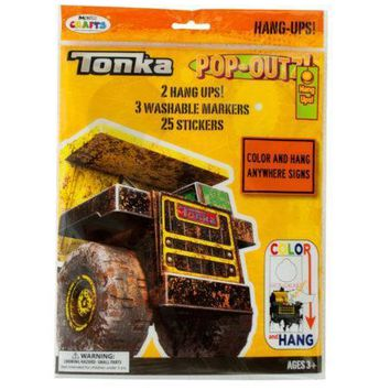 Tonka Trucks Pop-Outz Hang Ups Activity Set (Available in a pack of 20)