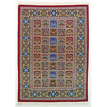 Oriental Qum Classic Wool Persian Rug, Light Blue/Pink