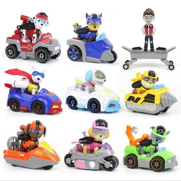 8Pcs/set Pawed Patrol Dog Toy Anime Classic Toy Christmas Gift Action Figures With Shield Kids Toy For Children