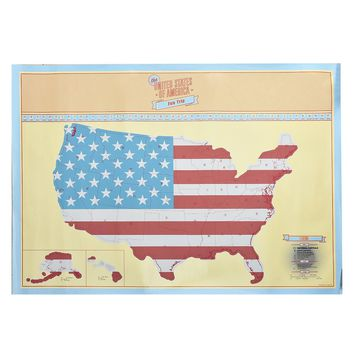 American Scratch Off Map US Version travel Poster Map