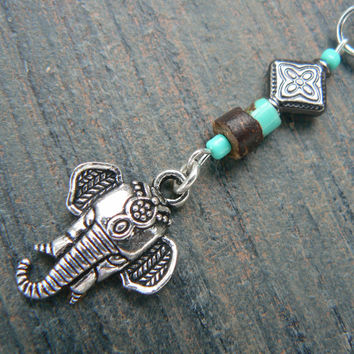 Moroccan elephant belly ring lt blue in zen yoga Indie Moroccan boho hipster new age gypsy hippie belly dancer beach and hipster style