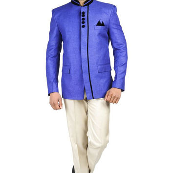 Rayon Bandhgala Party Nehru Mandarin Blazer - 10 Colors