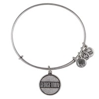 Alex and Ani Georgetown University® Logo Charm Bangle - Russian Silver