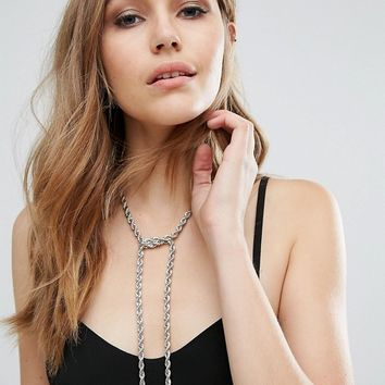 Missguided Rope Chain Necklace at asos.com