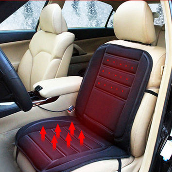 Car Heated Seat Cushion Cover Auto 12V Heating Heater Warmer Pad